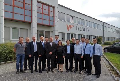 法兰泰克管理团队访问Voithcrane